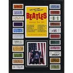 The Beatles 1964 Framed 24x32 Ticket Collage