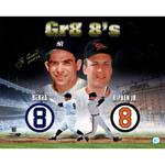 Yogi Berra Single Signed Gr8 8's w/ Cal Ripken Jr 16x20 Photo w/ HOF Insc