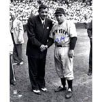 Yogi Berra Signed Standing With Babe Ruth 16x20 Photo