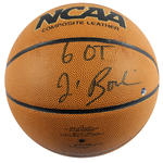 Jim Boeheim Signed NCAA Basketball w/ '6 OT' Insc