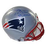 Tom Brady Signed New England Patriots VSR4 Authentic Proline Helmet w/'SB 49 MVP'Insc. (Tristar/SSM)