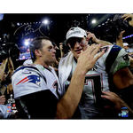 Tom Brady Signed Super Bowl 49 Celebration with Gronkowski 16x20 Photo (Tristar/SSM)
