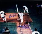Bill  Buckner/Mookie Wilson Dual Signed 8x10 Photo w/ '10/25/86' Insc (MLB Auth)