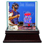 Joe Mauer With Gear On Single Ball Display Case