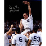 David Cone Signed Perfect Game Carry-Off Close Up Vertical 16x20 Photo w/ 'PG' Insc. (MLB Auth)