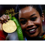 Gabby Douglas Signed Close up with Medal 8x10 Photo