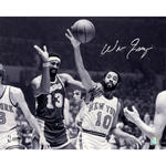Walt Frazier Signed Knicks White Jersey Dribble 16x20 Photo