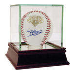 Brett Gardner Signed 2009 World Series Logo Ball (MLB Auth)