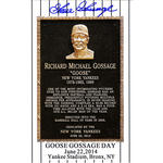 Goose Gossage Signed Goose Gossage Day Commemorative 3.5x5 Postcard