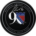 Michael Grabner Signed New York Rangers 90th Anniversary Logo Puck
