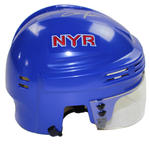 Adam Graves Signed New York Rangers Blue Replica Mini Helmet
