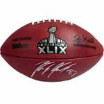 Rob Gronkowski Signed NFL Super Bowl XLIX Football