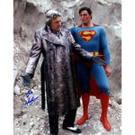 Gene Hackman Signed 16x20 Photo w/ Superman (Signed in Blue)