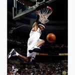 Allen Iverson Signed Philadelphia 76ers Hanging On Rim 16x20 Photo (PSA/DNA)
