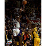 Larry Johnson Signed '4-Point Play' 16x20 Photo