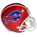 Jim Kelly Signed Buffalo Bills Red Replica Helmet w/ '35,467 Yds' Insc.