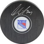 Oscar Lindberg Signed New York Rangers Logo Puck