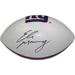 Eli Manning Signed New York Giants White Panel Jarden Football