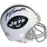 Joe Namath Signed New York Jets Throwback 65-77 Mini Helmet