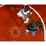 Chris Paul Signed Layup Vs. Mavericks 16x20 Photo