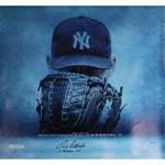 Andy Pettitte Signed 19 Postseason Wins 36x36 Canvas w/ '19 Postseason Wins' Insc.