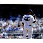 Andy Pettitte Signed Side View Stare Down 8x10 Photo