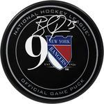 Brandon Pirri Signed New York Rangers 90th Anniversary Logo Puck