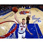 Kristaps Porzingis Signed Knicks Dunk vs. Hawks 8x10 Photo