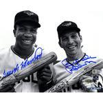 Brooks Robinson and Frank Robinson Dual Signed B/W 8x10 Photo (MLB Auth)
