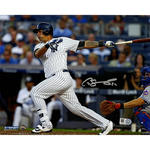 Gary Sanchez Signed 'Swinging' 8x10 Photo (Signed in Silver)