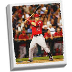 Mike Trout Stretched 22x26 Canvas Uns