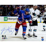 Jimmy Vesey Signed New York Rangers Celebration 16x20 Photo