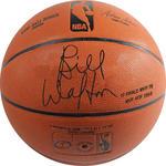 Bill Walton Signed I/O Basketball w/ '77 Finals MVP, 78 NBA MVP, HOF 93 , 2x NBA Champs. NBA Top 50' Insc