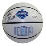 Jay Wright Signed 2016 National Champions Commemorative White Panel Basketball w/ 'Go Cats!' Insc