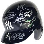 New York Yankees World Series MVP Multi-Signed & Inscribed New York Yankees Batting Helmet w/ Left Ear Flap (Signed by Richardson,Terry,Matsui,Jackson,Brosius,Ford,Rivera,Larsen,Wetteland,Dent,Jeter)(