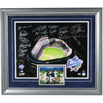 1999 New York Yankees 19 Signature WS Stadium Framed Collage (20x24 Silver)